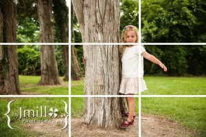 eample of the rule of thirds grid