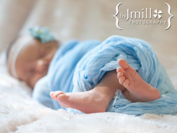 Portrait of newborn feet