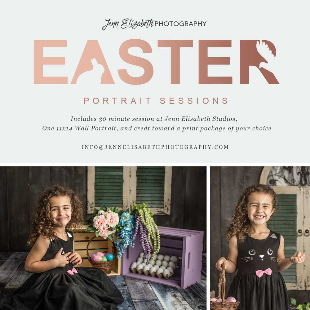 Jenn Elisabeth Photography Easter Portrait Sessions