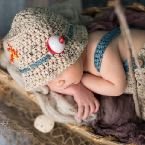 Newborn Fisherman Portrait