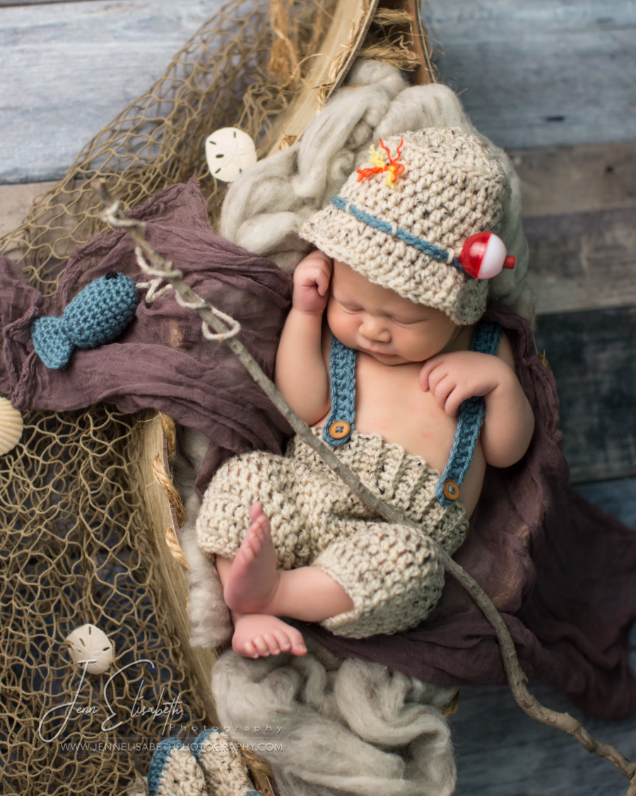 Newborn Fishing Portrait