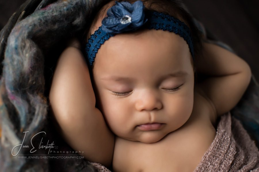 Portrait of baby girl sleeping