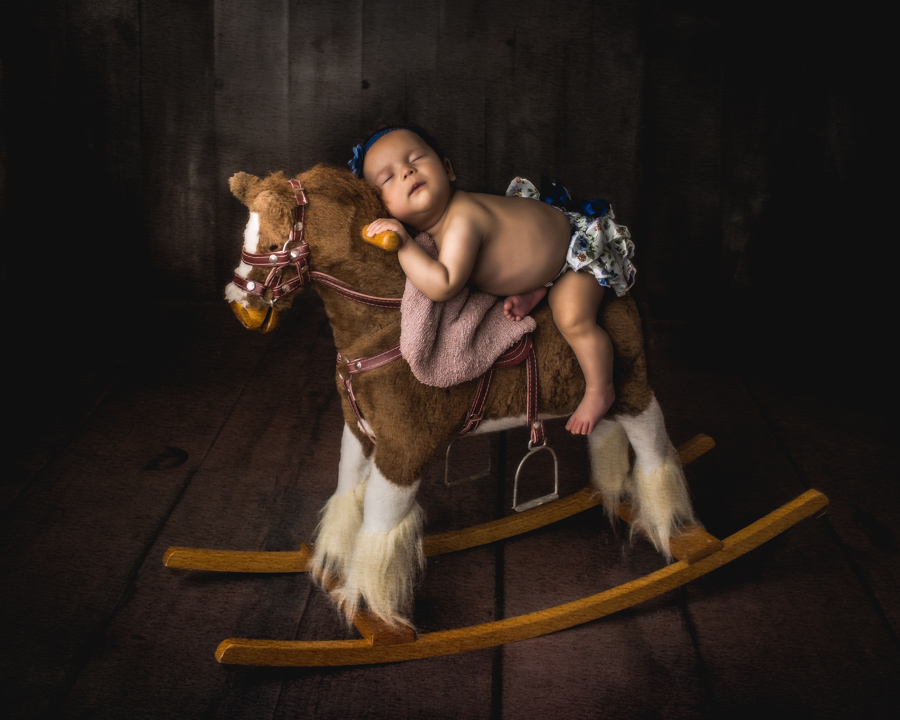 Newborn Rocking Horse Portrait