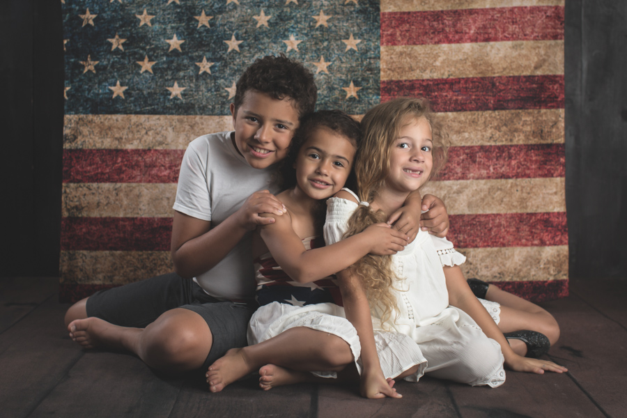 Fourth of July Flag Portraits