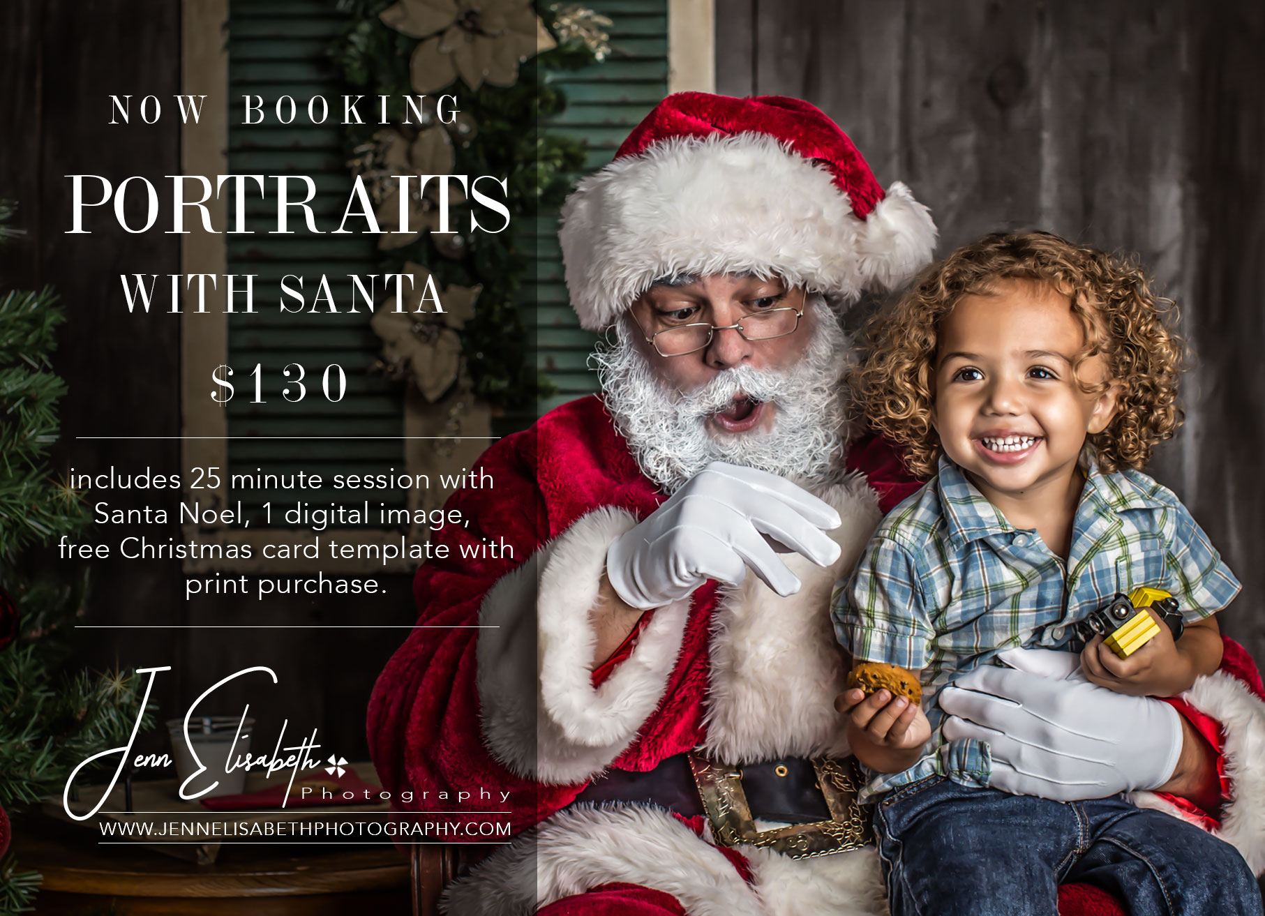 Portraits with Santa in Northern Virginia