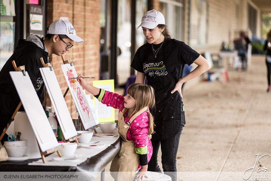 Painting at Tackett's Mill Spring Fling Woodbridge VA Event - Photography